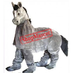 2 Person Grey Horse Mascot Costume