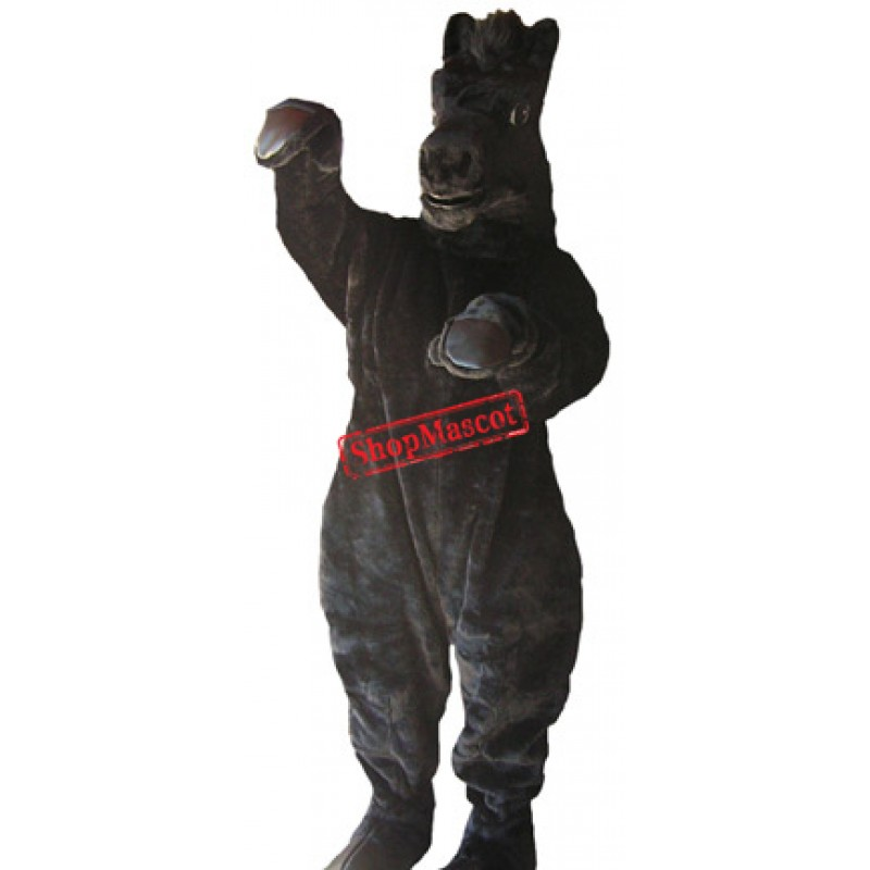 Power Black Horse Mascot Costume