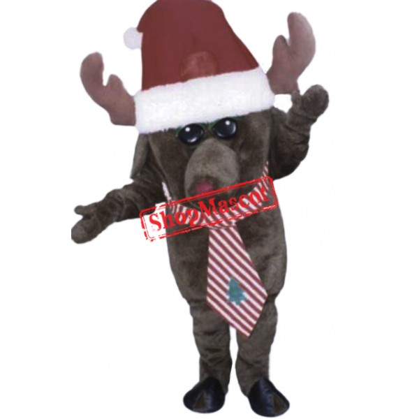 Christmas Moose Mascot Costume