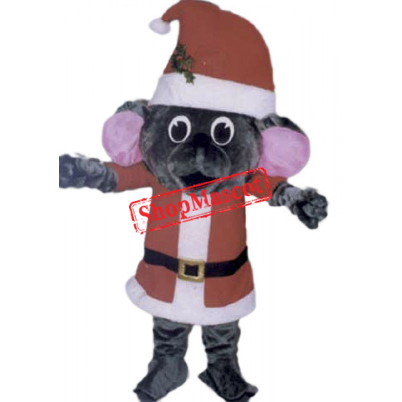 High Quality Christmas Mouse Mascot Costume