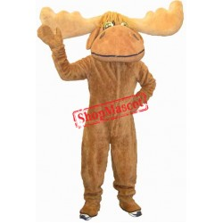 Friendly Moose Mascot Costume