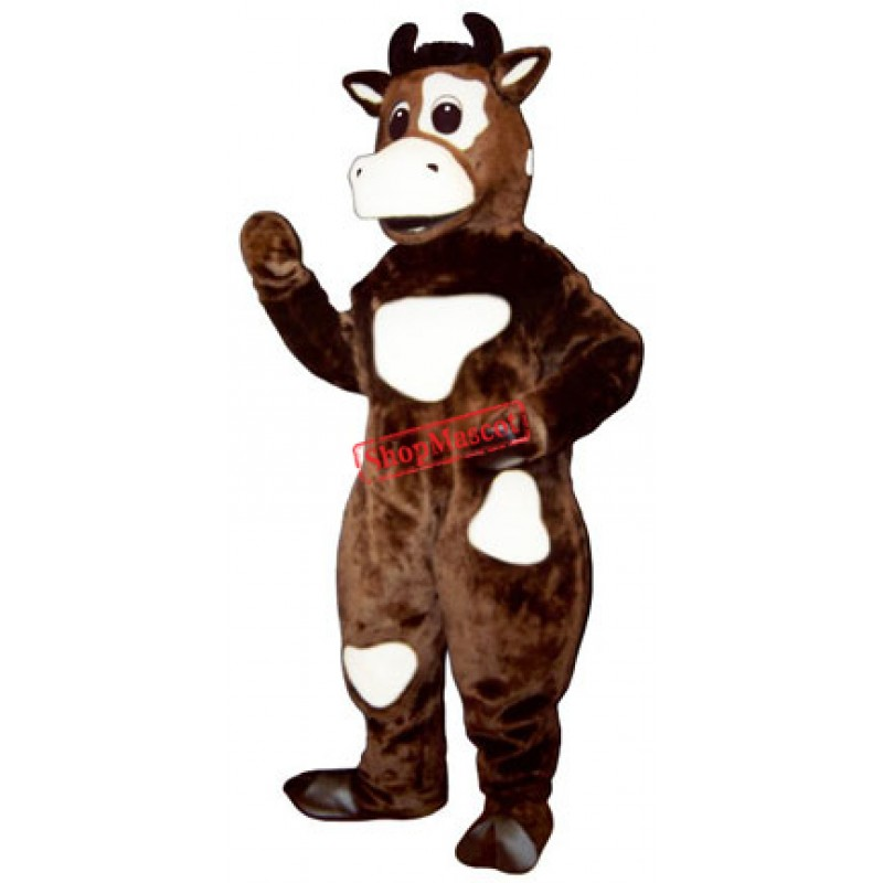 Friendly Cow Mascot Costume