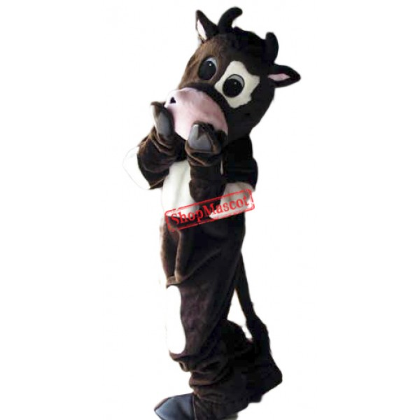 Shy Cow Mascot Costume