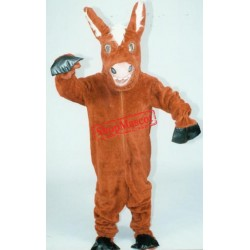 Friendly Donkey Mascot Costume