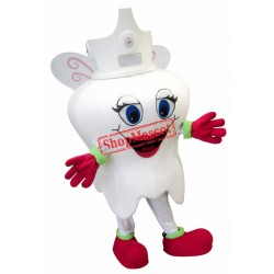 Cute Tooth Mascot Costume