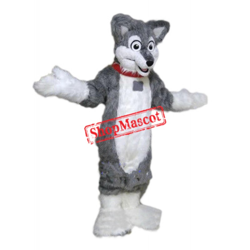 Grey Lightweight Husky Dog Mascot Costume