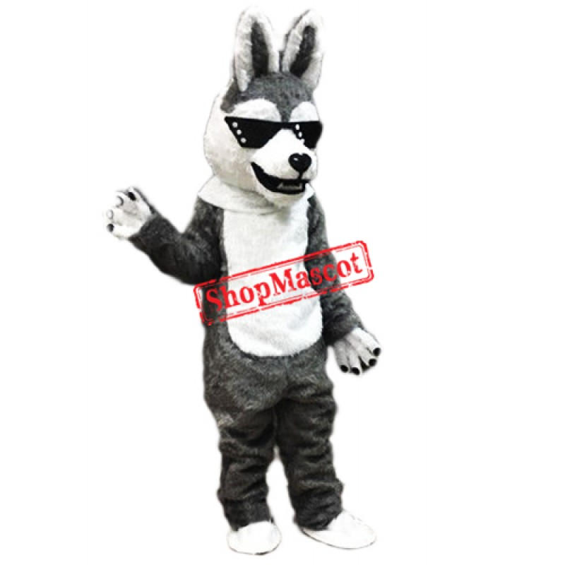 Cool Husky Dog Mascot Costume