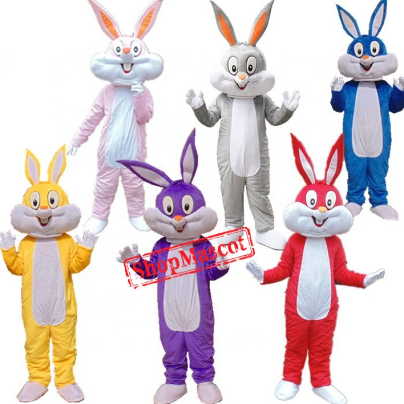Funny Easter Rabbit Bunny Mascot Costume