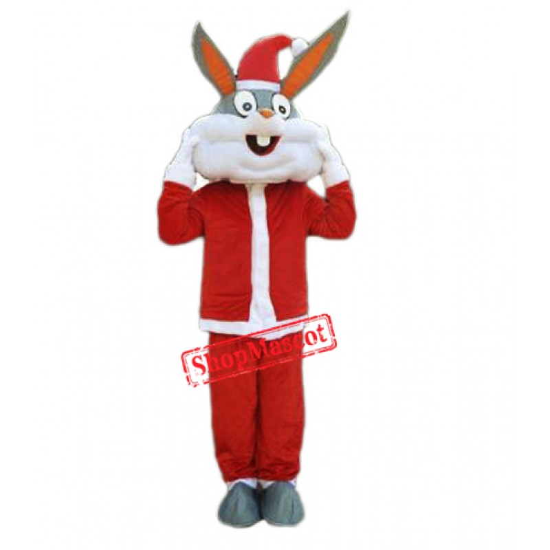 Christmas Rabbit Bunny Mascot Costume