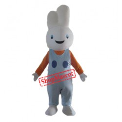Smiling Rabbit Bunny Mascot Costume