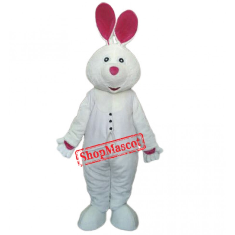 Easter White Bunny Rabbit Mascot Costume