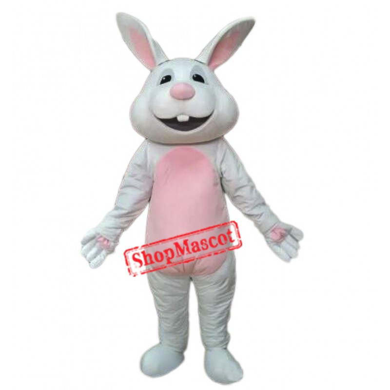Easter White Rabbit Bunny Mascot Costume