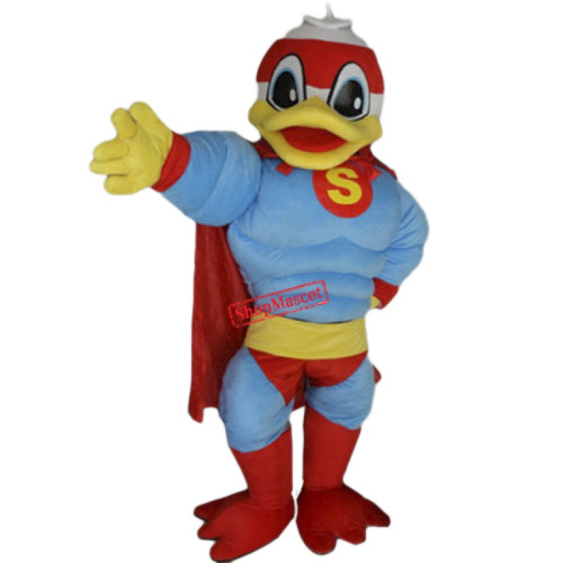 Super Hero Donald Duck Mascot Costume