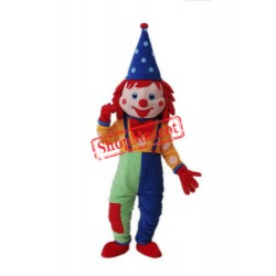 Halloween Carnival Clown Mascot Costume
