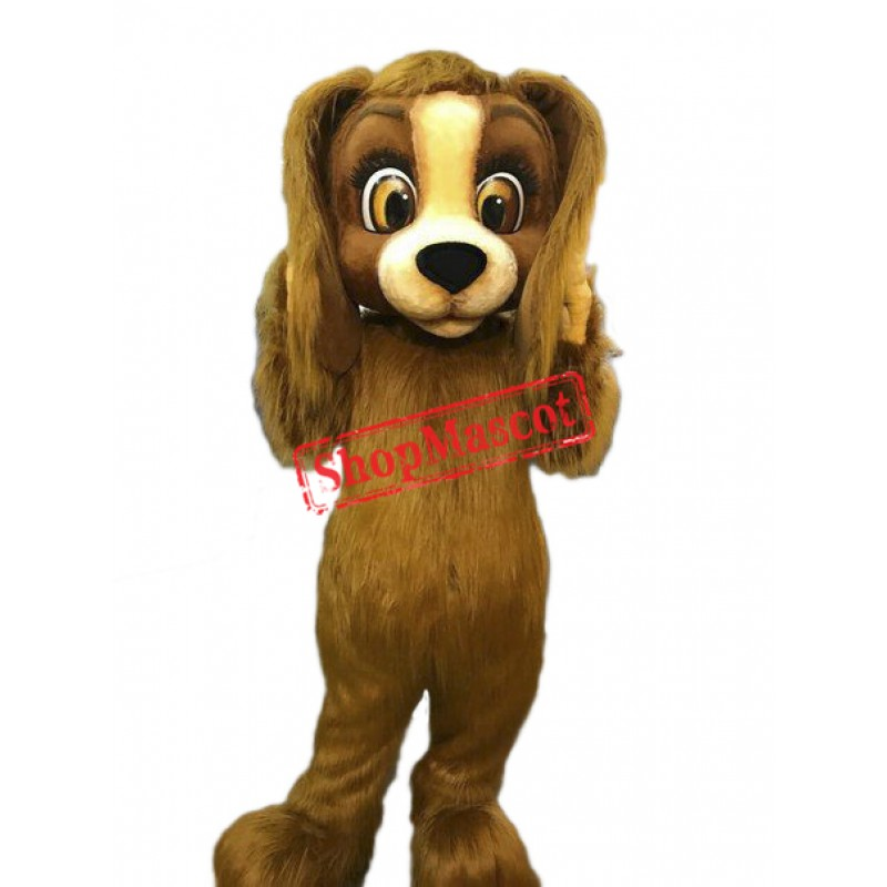 High Quality Furry Dog Mascot Costume