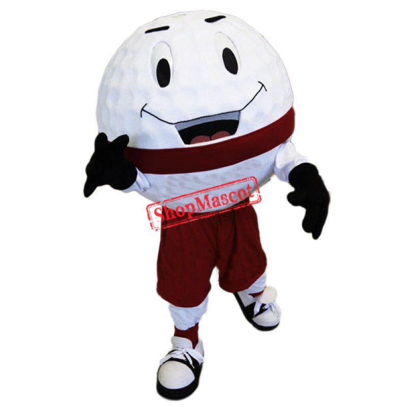 Golf Ball Mascot Costume