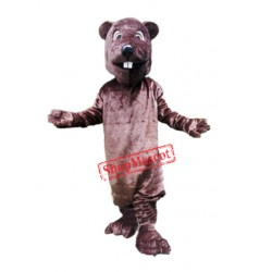 Friendly Beaver Mascot Costume