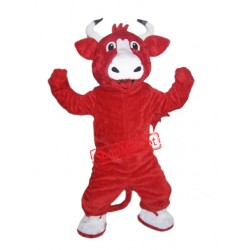 Happy Red Bull Mascot Costume