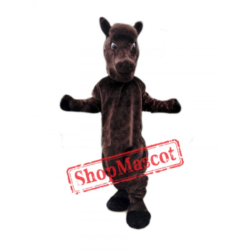 Brown Lightweight Horse Mascot Costume