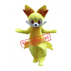 Cartoon Fennekin Mascot Costume