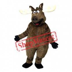 Happy Lightweight Moose Mascot Costume