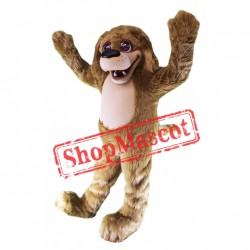 Happy Brown Plush Dog Mascot Costume