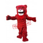 Power Red Lion Mascot Costume