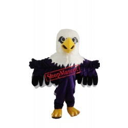 Purple Eagle Mascot Costume