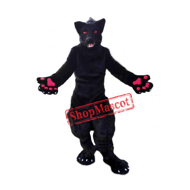 Red Eye Wolf Mascot Costume