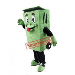 Green Garbage Bin Mascot Costume
