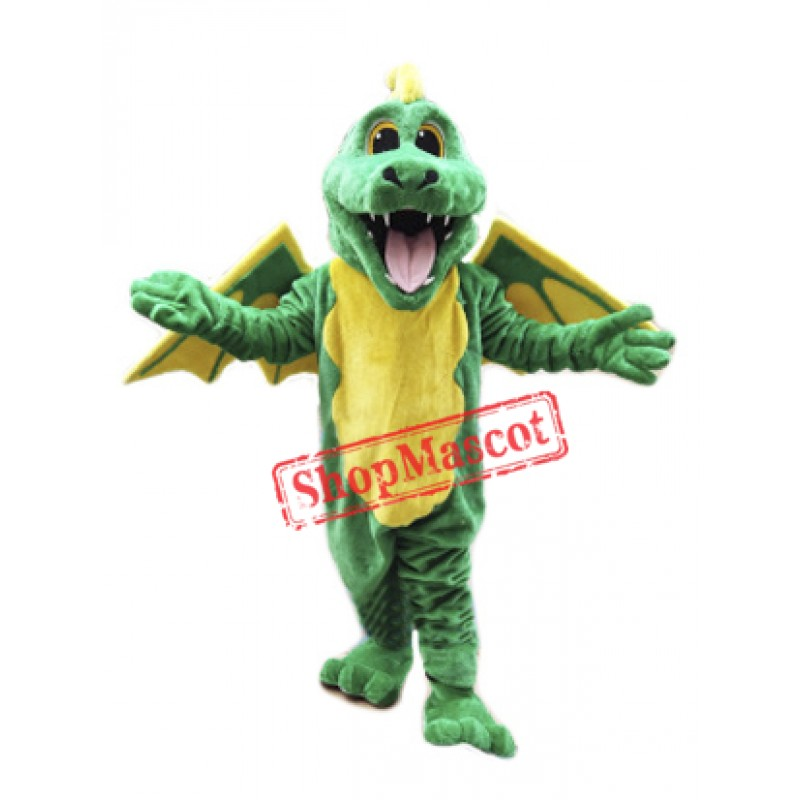 Happy Lightweight Green Dragon Mascot Costume
