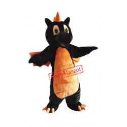 Cute Black Dragon Mascot Costume