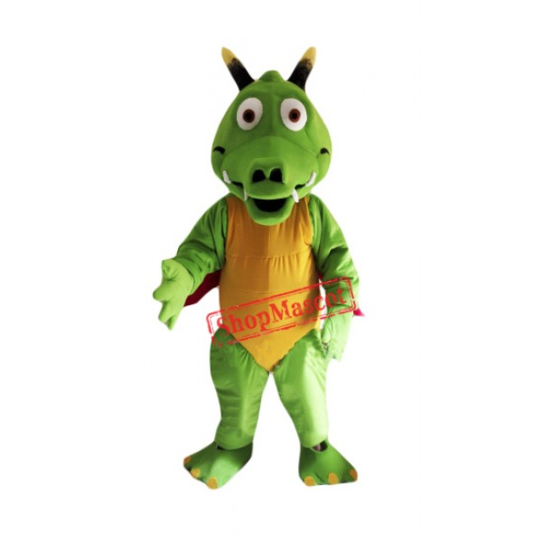 Cute Lightweight Green Dragon Mascot Costume