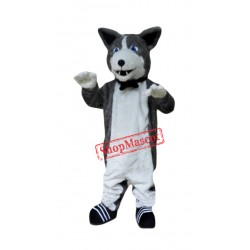 Cute Plush Husky Mascot Costume