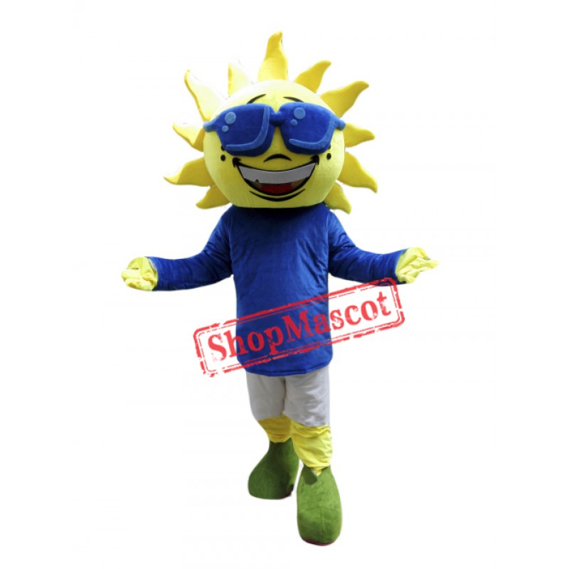 Sunflower Boy Mascot Costume
