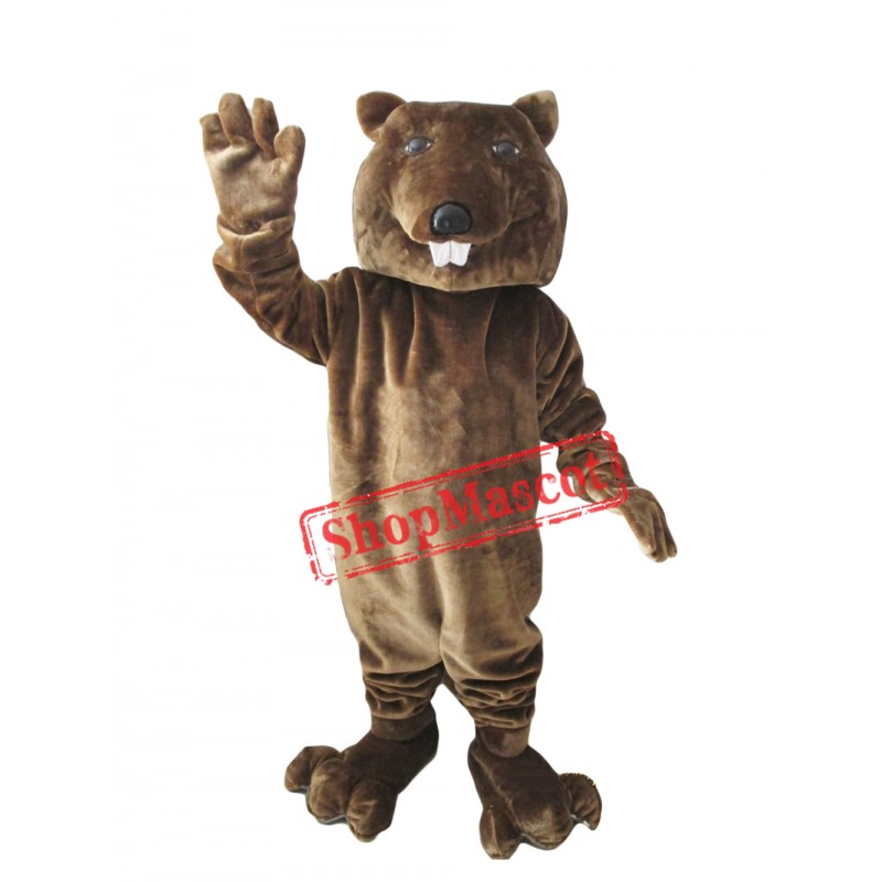 Friendly Lightweight Beaver Animal Mascot Costume