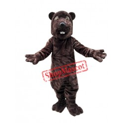 Friendly Adult Beaver Mascot Costume