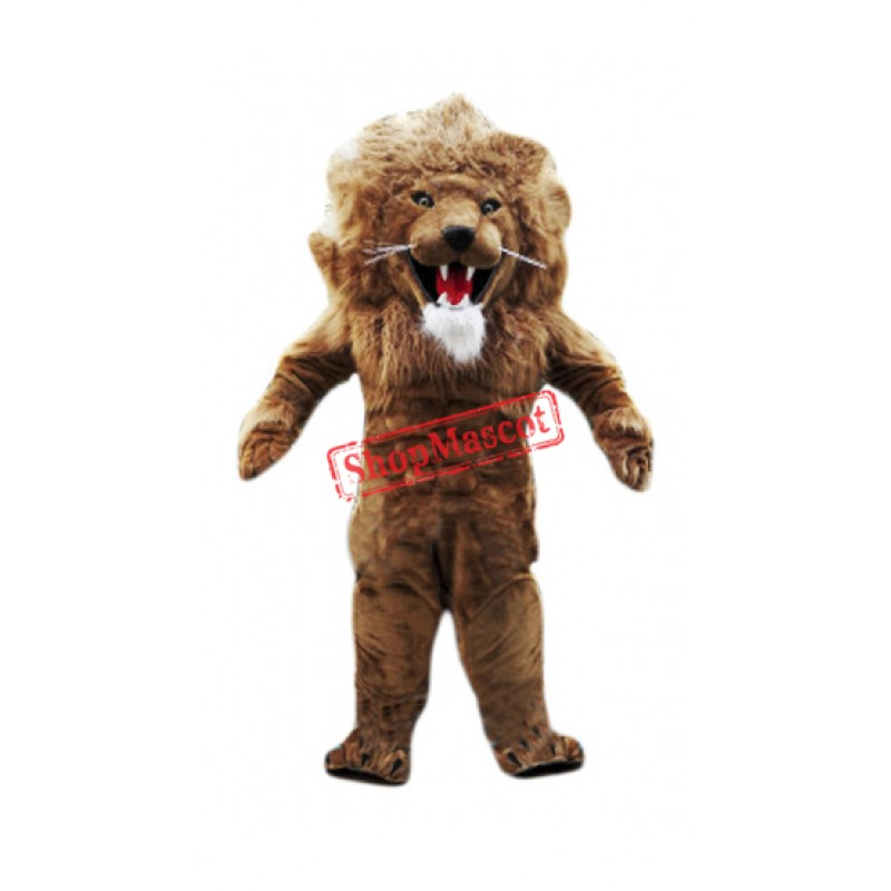 Fierce Muscular Lightweight Lion Mascot Costume