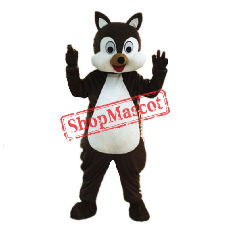 Happy Adult Squirrel Mascot Costume