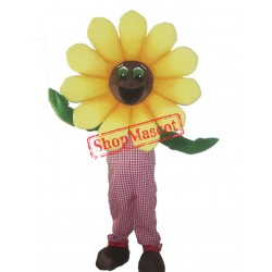 Happy Sunflower Mascot Costume