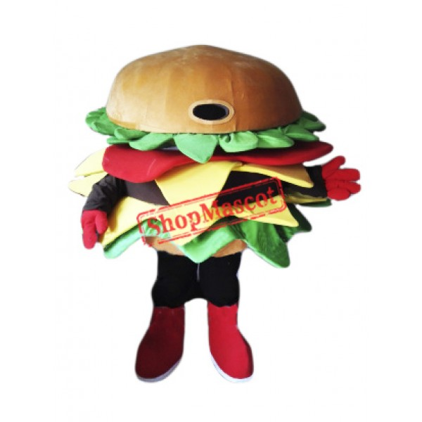 High Quality Hamburger Mascot Costume