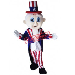 Cute Uncle Sam Mascot Costume