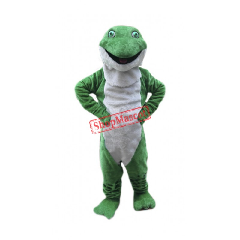 Plush Green Frog Mascot Costume