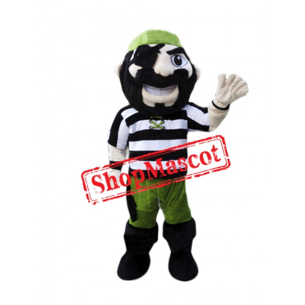 Green Pirate Mascot Costume