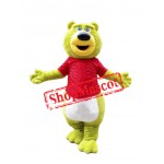 Green Teddy Bear Mascot Costume