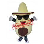 Avocado Mascot Costume
