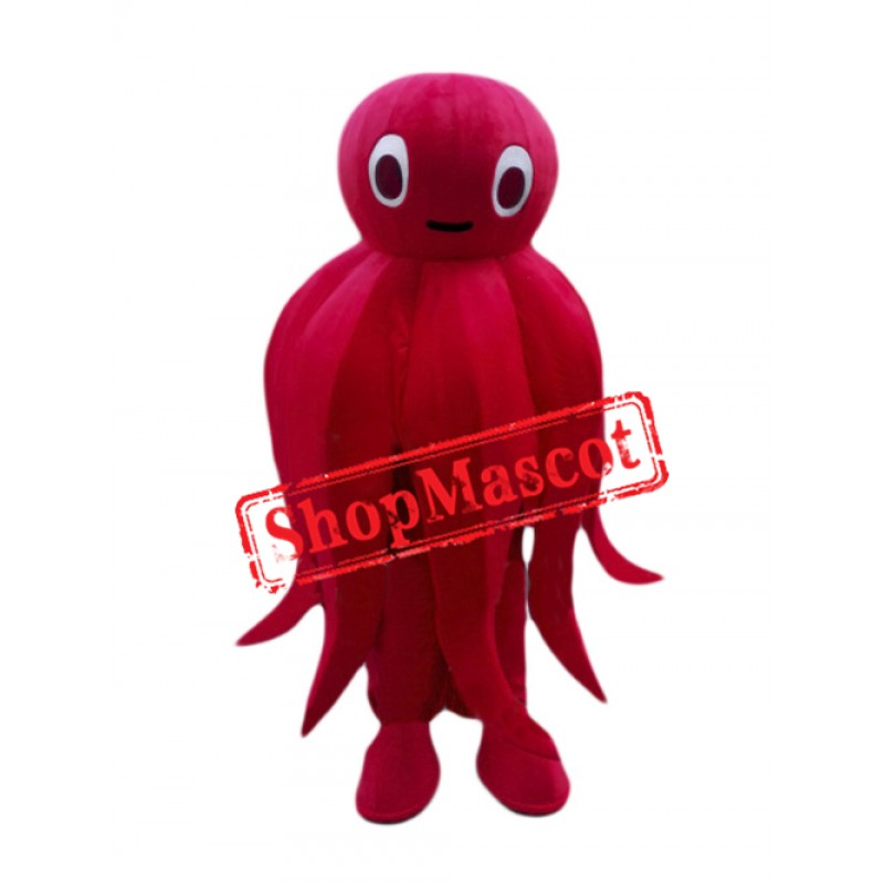 Red Octopus Mascot Costume