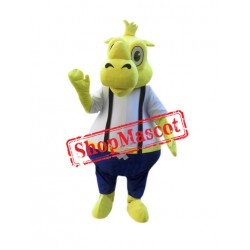Yellow Rhino Mascot Costume
