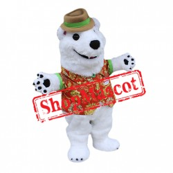 Friendly Lightweight Polar Bear Mascot Costume