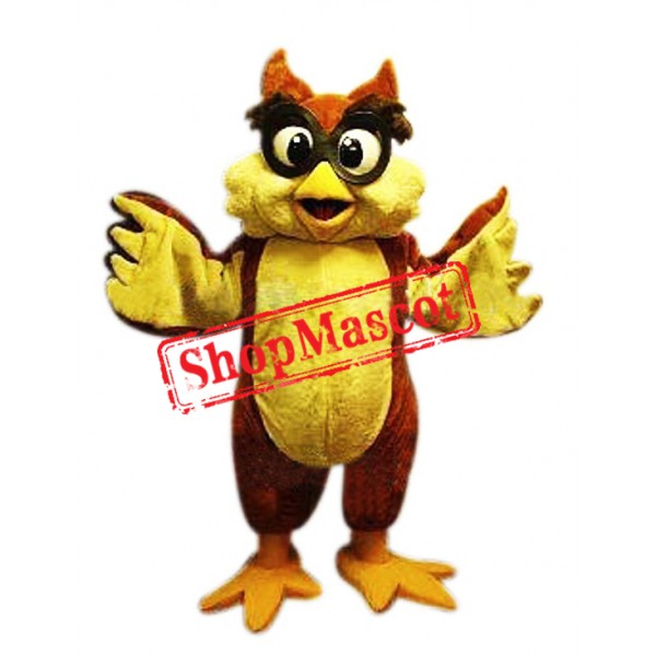 Friendly Lightweight Owl Mascot Costume
